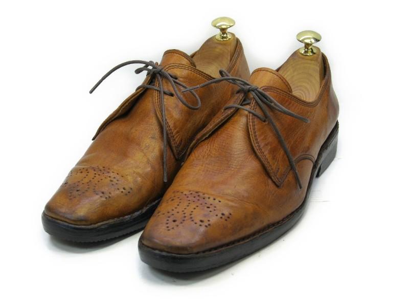 【中古】【送料無料】K-OPS (26.0cm~26.5cm) プレーントゥメンズシューズ 紳士 靴 ビジネス カジュアル メンテナンス済