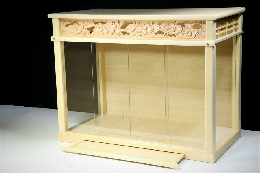 神棚 箱宮型■ガラスケース■幅72cm■中型 三社神棚などに■壁掛け金具