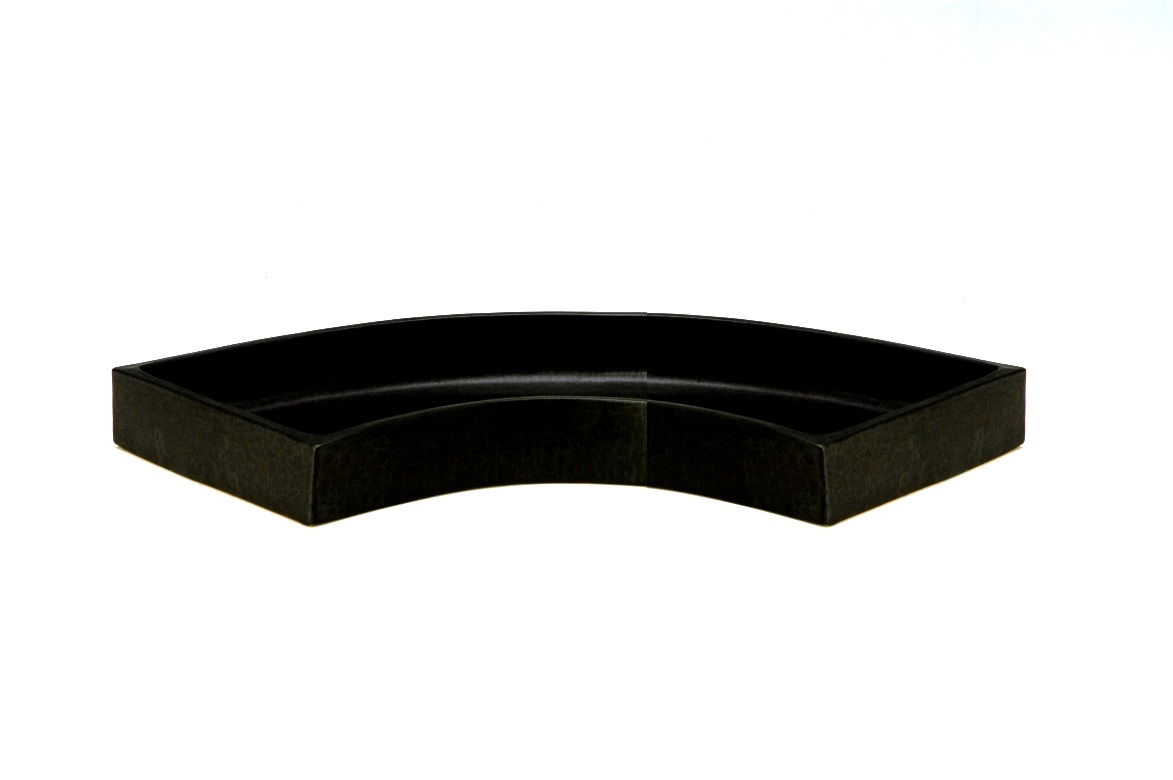 花器 おはら35-600 黒扇面水盤 花瓶 フラワーベース 水盤