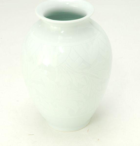 花器 潮騒581 フラワーベース 投げ入れ 花瓶 白磁 桐箱入 限定品