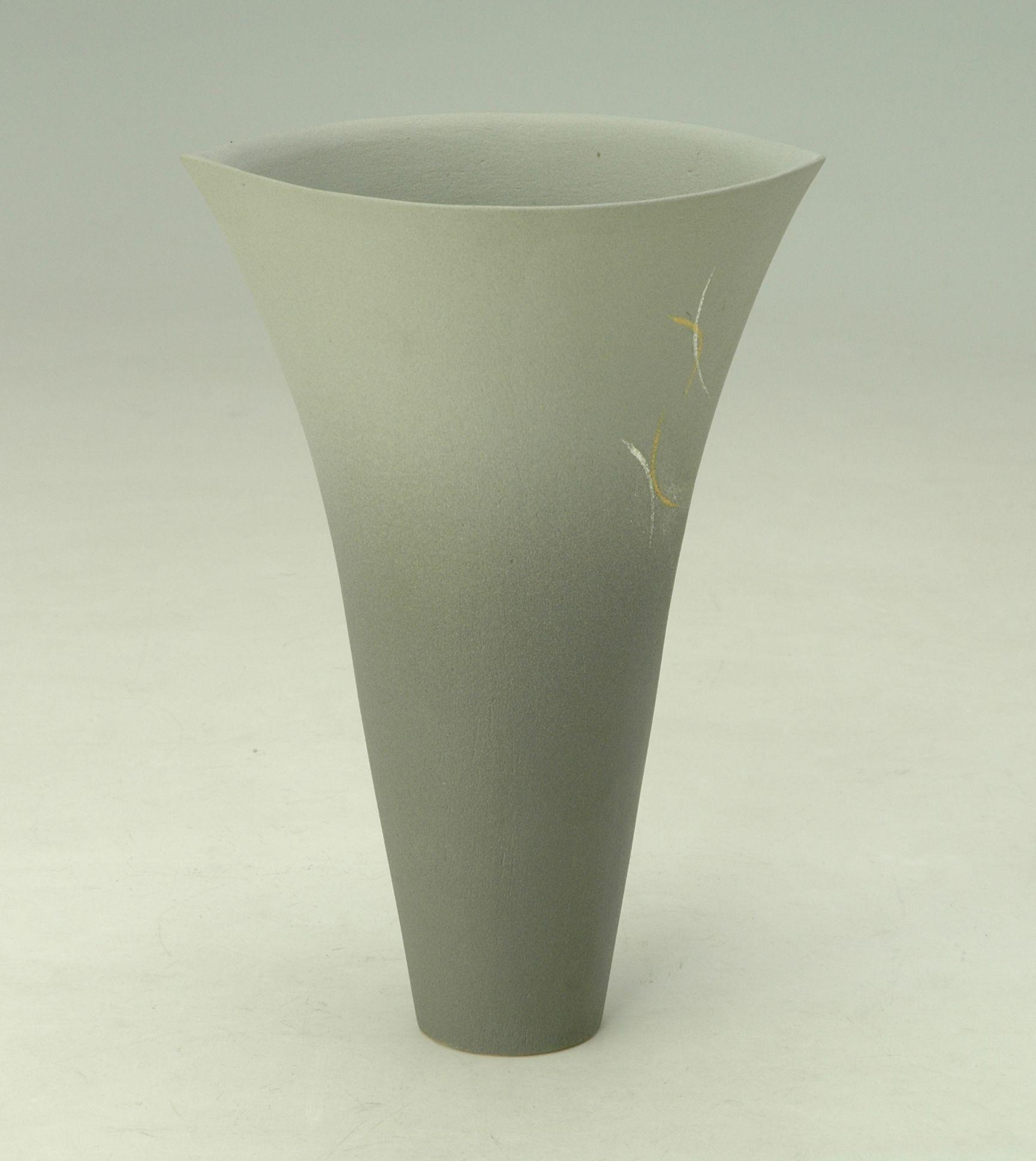 花器 粧350 手作り 水盤 コンポート フラワーベース 花瓶