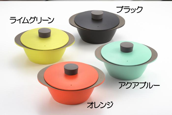 【頑張って送料無料!】日本製 EAトCO Nabe cooking pot 4色両手鍋 クッキングポットアルミ製の楕円型のナベ。フタの向きで蒸気を逃せますIH調理器でもガスコンロでもOKAS0020-0023
