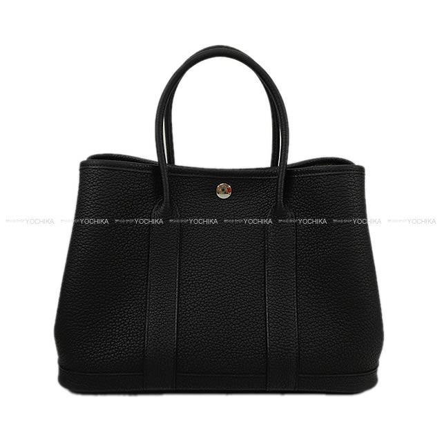 【ご褒美に★】ガーデンパーティ 30 TPM 黒(ブラック) ネゴンダ(オールレザー型押し) 新品 (HERMES Garden Party Bag 30 TPM Noir Negonda [Brand new][Authentic])【あす楽対応】#yochika
