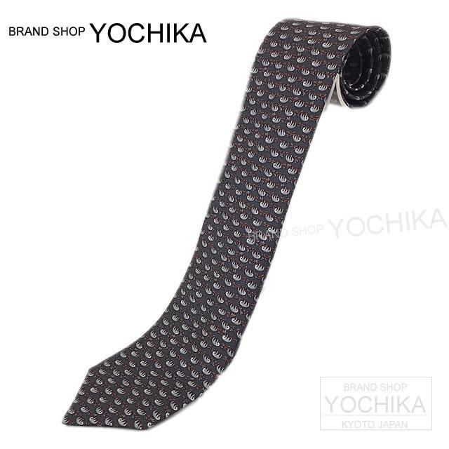 "HERMES Hermes tie ""Australia"" grease X grischra X Lavender silk 100% brand new (HERMES CRAVATE TWILL TIE Australia, Brand New) #yochika"