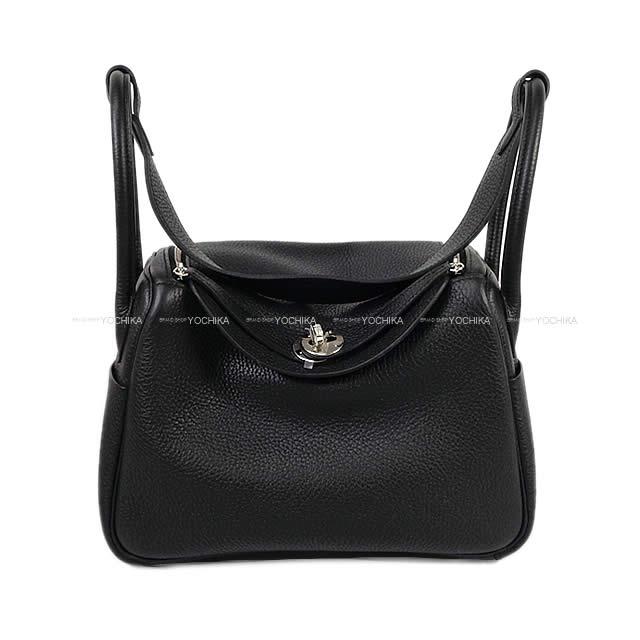 HERMES エルメス 2Way ショルダーバッグ リンディ26 黒(ブラック) トリヨン シルバー金具 新品 (HERMES 2way shoulder Bag Lindy 26 Black Taurillon Clemence SHW [Brand new][Authentic])#よちか