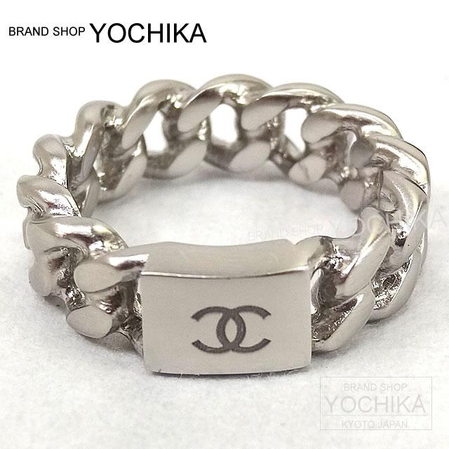 By 2015, new CHANEL Chanel ring big chain plates Coco mark ring # 12 silver A85614 brand new CHANEL Big Chain Plate COCO Mark Ring # 12 Silver A85614 NEW #yochika.