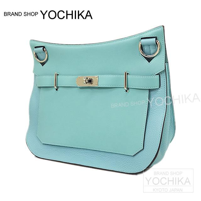HERMES Hermes Gypsies 31 blue ATOL Tryon swift X silver metal brand new (HERMES Jypsiere Bag 31 Blue Atoll Taurillon Clemence/Swift SHW [Brand New]) #yochika