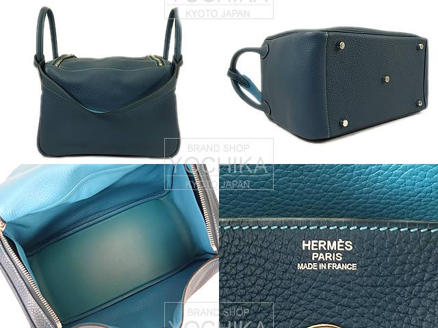 HERMES Hermes shoulder bag Lindy 30 equila Colvert / turquoise Tryon new unused (Shoulder bags Lindy 30 Ecla Colvert/Turquoise Taurillon Clemence Never used) #yochika