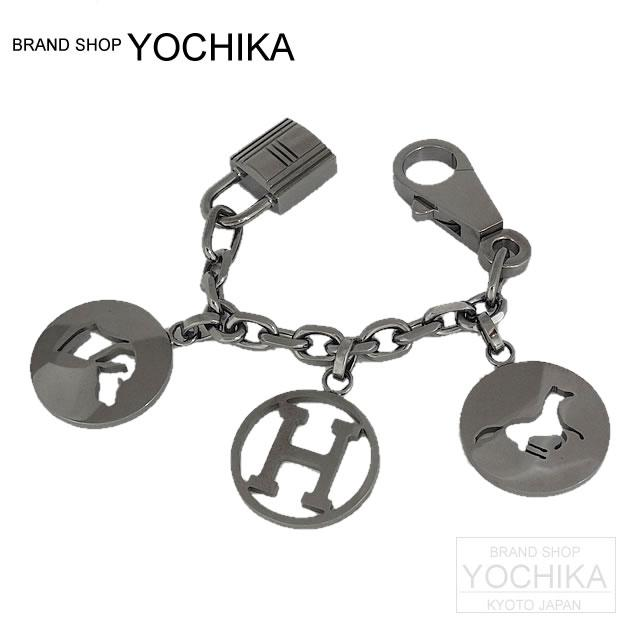 Charm bulldog lock BRELOQUE ruthenium new article with HERMES エルメスカデナ-free (HERMES Key Charm BRELOQUE Ruthenium)#yochika