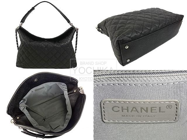 CHANEL CHANEL matelasse 2Way tote bag black caviar skin A66803 new article-free (CHANEL matelasse 2Way Tote Bag black )fs3gm#yochika
