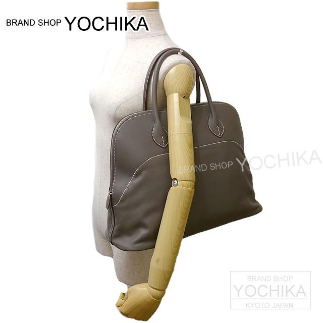 45 HERMES エルメスボリードリラックス エタンヴォー Sikkim silver metal fittings new article (HERMES Bolide Relax45 Etain Veau Sikkim)#yochika