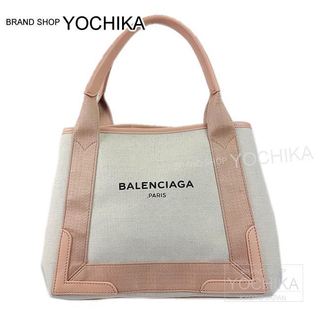 BALENCIAGA BALENCIAGA tote bag Aoyama limitation navy S NAVY CANVAS S Rose X natural cotton canvas X calf 339933 new (BALENCIAGA Bags NAVY CANVAS S Rose/Natural Canvas/Calf 339933)#yochika