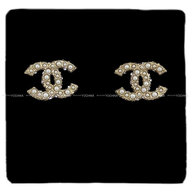 Chanel Coco Make Faux Pearl Earrings Gold A64766 New Mark Fake Pierces I M Chika