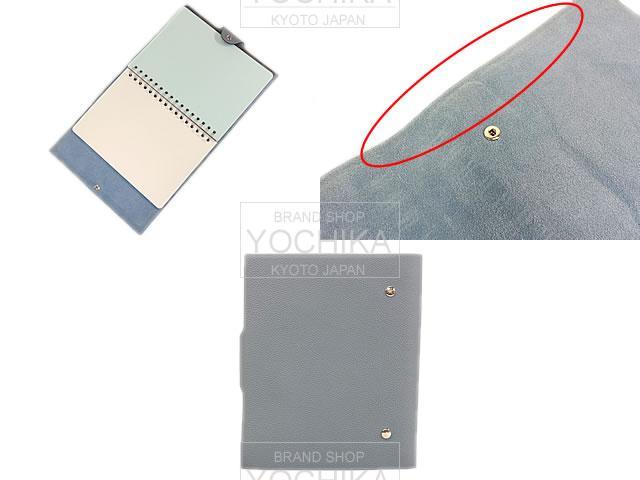 HERMES Hermes pocketbook Ulysse MM solid refill with blue line slope new unused (HERMES Agenda Ulysse MM with Plain Paper Refill Blue Lin Togo) # I'm Chika