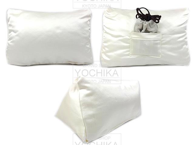 HERMES Hermes handmade Birkin 25 private bag pillow pillow cushion off white new (END HIGH INSERT FITS FOR PROTECT, HERMES PILLOWS of Birkin25 HANDBAGS) # I'm Chika