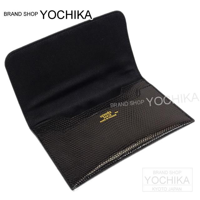 Brandshop yochika rakuten global market hermes hermes business hermes hermes business cards on card case black black lizard x silk brand new as well as pre loved hermes card case noir black lizardsilk near mint colourmoves Gallery