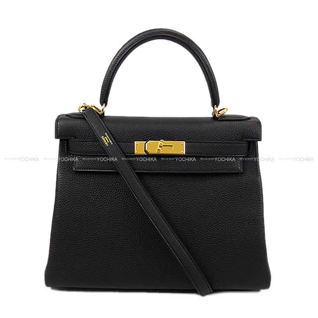 c2a11913b70e3 Sewing black (black) トゴゴールド metal fittings new article (HERMES handbags Kelly  28 Retourne Noir(Black) Togo GHW [Brand New][Authentic])# よちか in ...