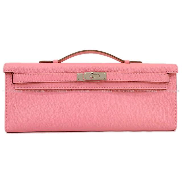 080477a47e HERMES エルメスハンドバッグケリーカットローズコンフェッティエプソンシルバー metal fittings new article-free ( HERMES Clutch Handbags kelly cut Rose Confetti ...