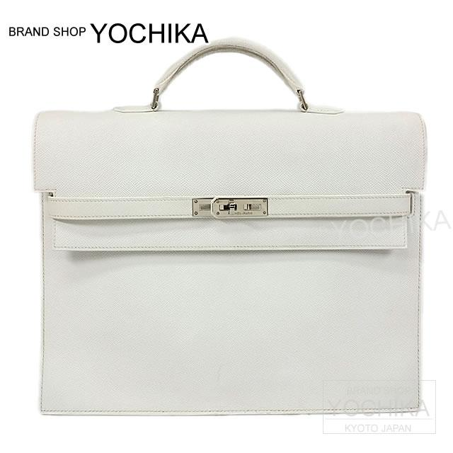 hermes kelly briefcase. hermes hermes kelly depeches briefcase 34 epson silver white fittings a rank (pre loved