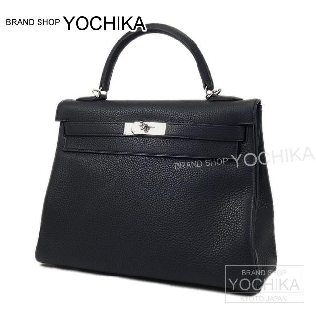 HERMES Hermes Kelly 32 Amazon in sewing blue Indigo X marine X locabail Tryon silver metal brand new HERMES Kelly32 Amazon Retourne Bleu Indigo/Bleu Marine/Rocabar Taurillon Clemence [Brand new], [Authentic], # I'm Chika