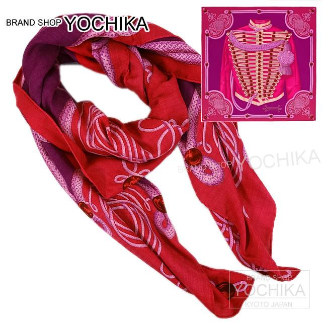 "HERMES Hermes shawls scarves 140 ""Brandenburg ornament"" rose X Fuchsia X mauve cashmere 65% x silk 35% new (Carre140 Shawl ""BRANDEBOURGS"", [Brand New] [Authentic]) # I'm Chika"