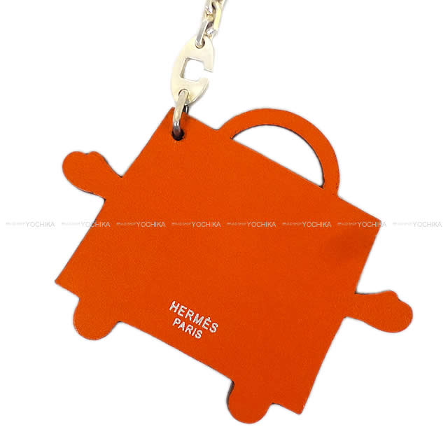 "HERMES Hermes limited bag charm key ring ""Kelly Doll"" Orange vortadelacto new unused (HERMES bag charm Keyring ""kelly doll"" kelly idole orange Veau Tadelakt [Never used], [Authentic]) # I'm Chika"