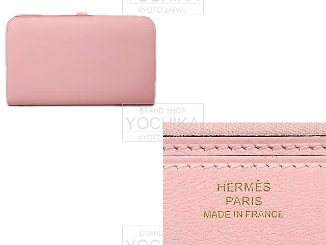 HERMES Hermes wallet Dogon GM rose Sakura swift gold hardware brand new (HERMES Dogon Wallet GM Rose Sakura Swift GHW [Brand New], [Authentic]) # I'm Chika
