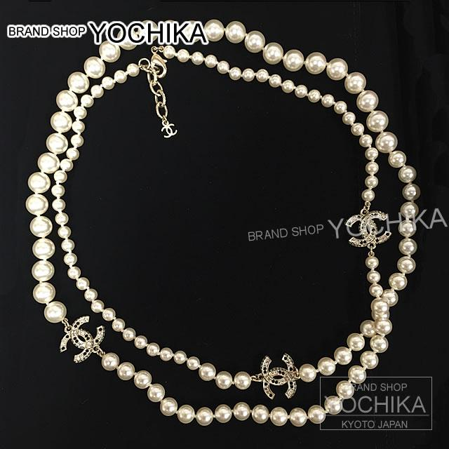 CHANEL Chanel costume rhinestone CC mark Pearl Necklace with A87175 brand new CHANEL Costume Rhinestone CC Mark Pearl Long Necklace A87175 [Brand new] ... & BRANDSHOP YOCHIKA | Rakuten Global Market: CHANEL Chanel costume ...