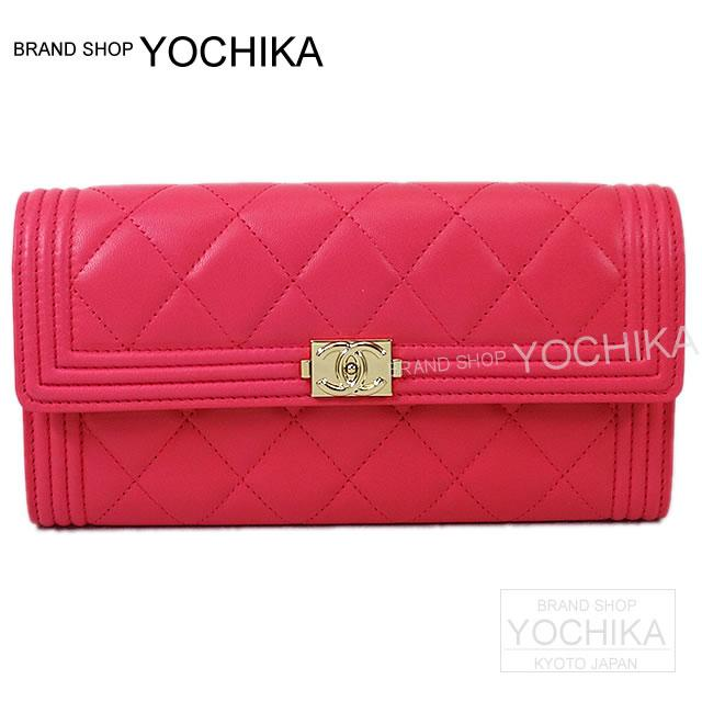 25c406720d0af8 Head wallet fuchsia pink lambskin gold metal fittings A80286 new article (CHANEL  BOY CHANEL Flap ...