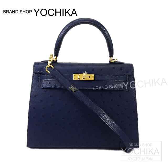 6a404684c177 Kelly 25 outside the HERMES Hermes handbag sewing Blue Iris ostrich gold  hardware brand new HERMES handbags Kelly25 Sellier Blue Iris Ostrich  (Autruche) ...