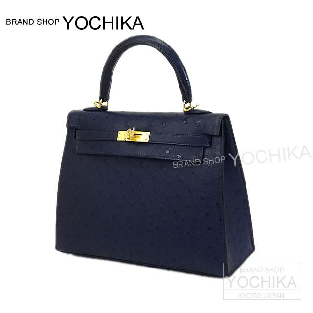 3eb8c640a746 HERMES Hermes handbag Kelly sewing blue iris ostrich gold metal fittings new  article (HERMES handbags Kelly25 Sellier Blue Iris Ostrich(Autruche) GHW)   よ ...