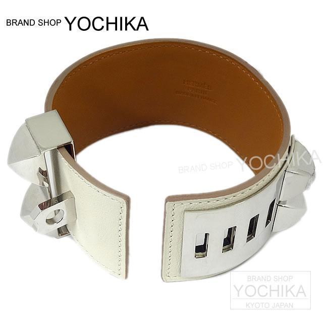 "HERMES Hermès medor bracelet ""Collier de cyan (CDC)"" Kyle swift #S new as well (Bracelet ""COLLIER DE CHIEN"" Craie Swift SHW #S) # I'm Chika"