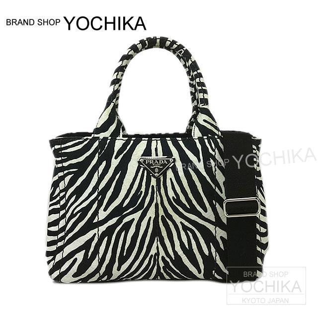 cc65db403612 Zebra pattern black X white 1BG439 new article (CANAPA mini Tote bag with  Shoulder Strap ...