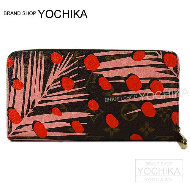 2016, new limited edition LOUIS VUITTON Louis-Vuitton long Wallet Zipper wallet pink Monogram jungle dots M41908 brand new (2016 New Limited LOUIS VUITTON Zippy Wallet Pink Monogram jungle Dot M 41908 [Brand New], [Authentic]) # I'm Chika