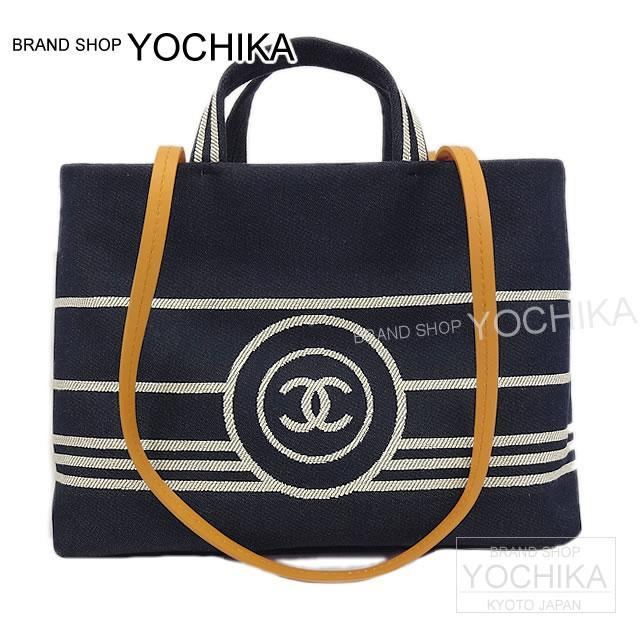 5038ee7fbd57bf As well as CHANEL Chanel 2Way shopping tote bag (S) indigo X white denim ...