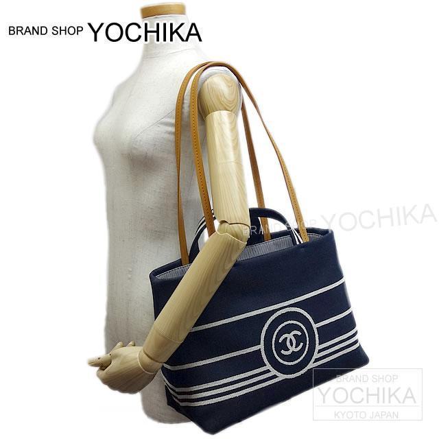fad95146d53dc5 ... As well as CHANEL Chanel 2Way shopping tote bag (S) indigo X white  denim ...