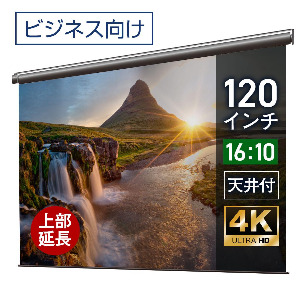 シアターハウス プロジェクタースクリーン 電動スクリーン ケースなし 120インチ(16:10)WXGA マスクフリー ロングタイプ 日本製 BDR2585FEH-H2500