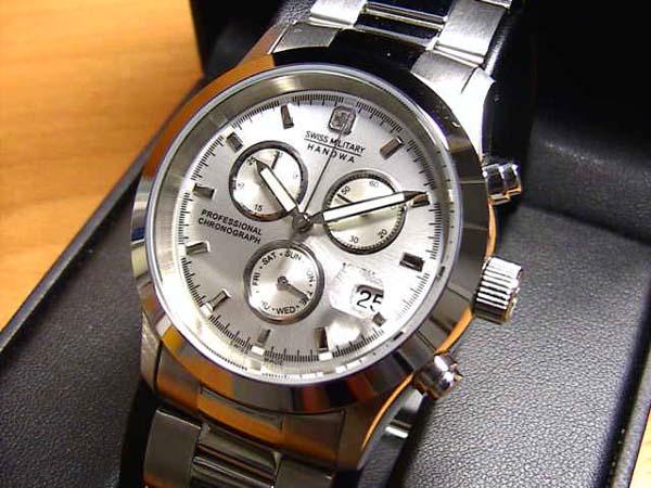 スイスミリタリー 腕時計 エレガントクロノ ML246 メンズ 40mm 【文字盤カラー シルバー】 ☆日本全国=北は北海道、南は沖縄まで送料580円でお届けけします☆