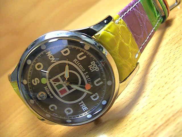 リトモラティーノ 腕時計 FINO (フィーノ) マルチカラーベルト  メンズサイズです。 レディースもあります 【文字盤カラー ブラック】  ★日本全国=北は北海道、南は沖縄まで送料0円 【送料無料】でお届けけします★