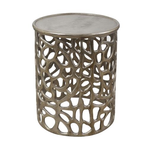 サイドテーブル ラウンドテーブル 飾台 花台 クラシック アンティーク インテリア 金属製
