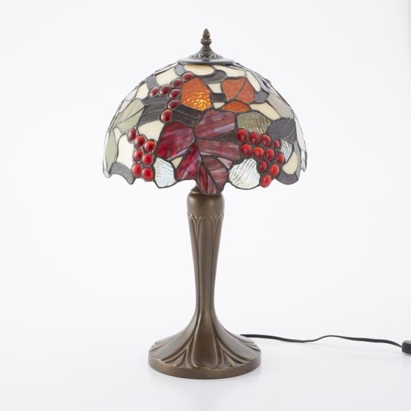 ステンドグラス ランプ テーブルランプ 葡萄 卓上ランプ 照明器具 アンティーク コレクション お洒落 インテリア オブジェ ディスプレイ ギフト 御祝