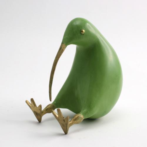 かわいい 置物 癒し系アイテム ギフト プレゼントにも キウイ 木彫り ラージサイズ カーキ 木製 インテリア 雑貨 キーウィ バード 付与 オブジェ Kiwi おしゃれ 限定品 鳥