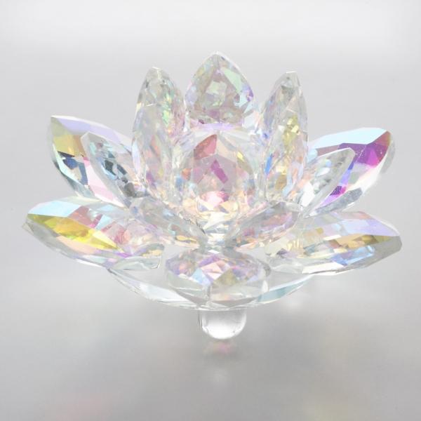 ガラス クリスタル オブジェ 置物 ディスプレイ 飾り物 Sサイズ 毎週更新 ロータス インテリア雑貨 クリスタルガラス インテリア NEW 硝子