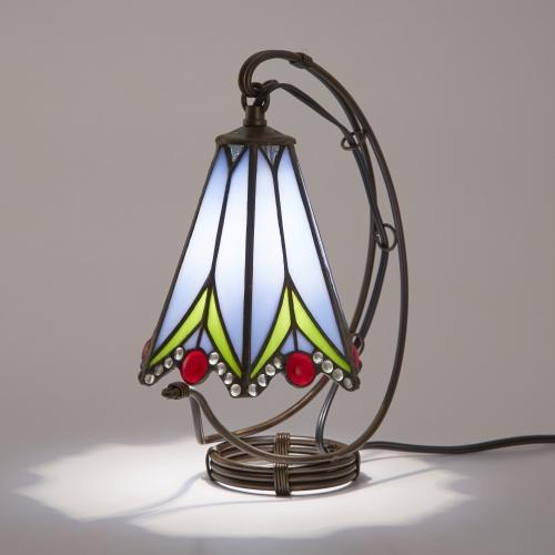 ステンドグラスランプ テーブルランプ 吊り型 アンティーク ステンドランプ ステンドガラス 卓上照明 間接照明 ビビアナ