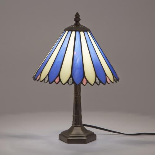 ステンドグラスランプ テーブルランプ アンティーク ステンドランプ ステンドガラス 卓上照明 間接照明 ナタリア ブルー