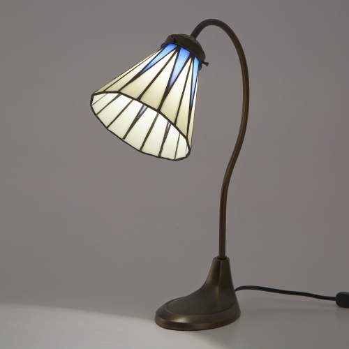 ステンドグラスランプ テーブルランプ アンティーク ステンドランプ グースネック ステンドガラス 卓上照明 間接照明