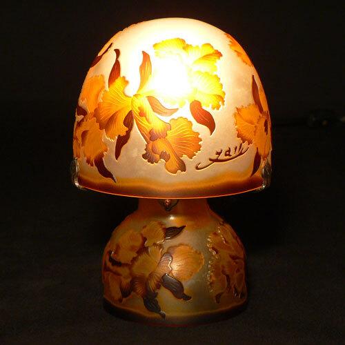 ガレ調 アンティーク 照明 ランプ ライト 人気 ガラス 照明器具 おしゃれ 信用 テーブル 卓上ライト 風 カトレア ガレランプ ガレ スタンドライト おトク