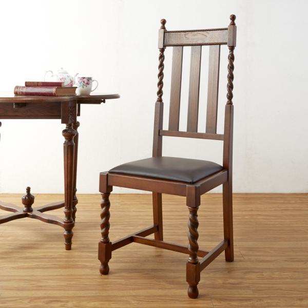 Old British style オーク材 無垢 ハイバックチェア ダイニングチェア 椅子 木製 インテリア アンティーク チェア 木製 おしゃれ クラシック アンティーク
