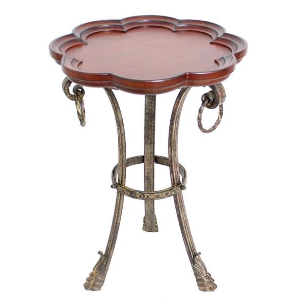 サイドテーブル 花びら型 アイアン アンティーク調 おしゃれ インテリア 飾台 花台