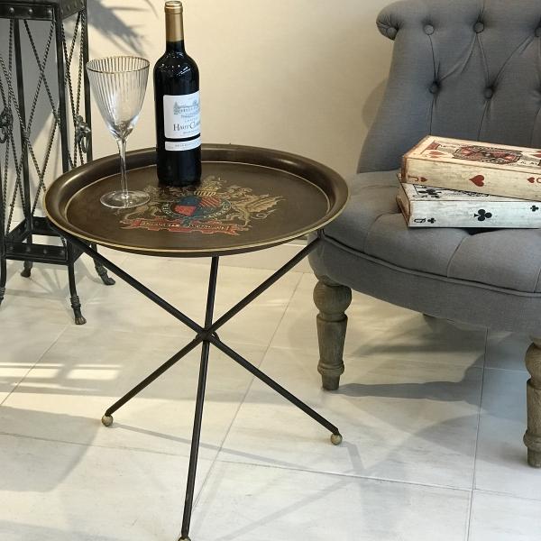 サイドテーブル シノワズリ ラウンドテーブル アンティーク おしゃれ インテリア 花台 飾台